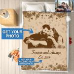 Custom Photo Blanket Personalized - Wedding Anniversary Gifts - Fleece Blankets