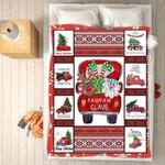 Custom Blankets - PawPaw Claus Christmas Blanket - Fleece Blankets