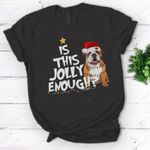 Is this jolly enough English Bulldog Christmas Lights t-shirt - Standard Women's T-shirt