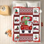 Custom Blankets - Mamaw Claus Christmas Blanket - Fleece Blankets