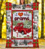 Custom Blankets - Grams Christmas Blanket Xmas - Fleece Blanket