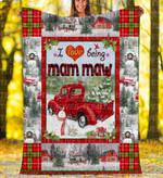 Custom Blankets - Mam Maw Christmas Blanket Xmas - Fleece Blanket