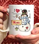 I Love Being A  Mamie Snowman Coffee Mug - 11oz White Mug