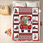 Custom Blankets - Granny Claus Christmas Blanket - Fleece Blankets