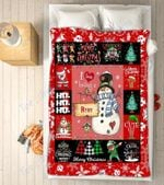 Custom Blankets - Ryry Snowman Christmas Blanket - Fleece Blankets