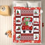Custom Blankets - Auntie Claus Christmas Blanket - Fleece Blankets