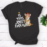 Is this jolly enough Corgi Santa Christmas Light-Corgi T-Shirt - Standard Women's T-shirt