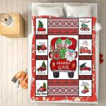 Custom Blankets - Gramma Claus Christmas Blanket - Fleece Blankets