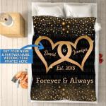 Custom Blankets - Mr And Mrs Personalized Blanket - Fleece Blanket