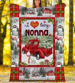Custom Blankets - Nonna Christmas Blanket Xmas - Fleece Blanket