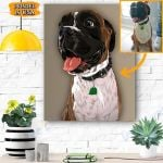 Dog Custom Photo Canvas Personalized - Matte Canvas