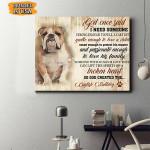 English Bulldog Dog Canvas Prints Wall Art - Matte Canvas