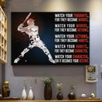 Baseball Canvas Prints Wall Art - Matte Canvas