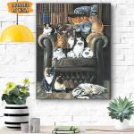 Cats Canvas Prints Wall Art - Matte Canvas