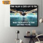 Swimming Canvas Prints Wall Art - Matte Canvas