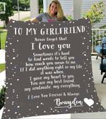 Custom Blankets To My Girlfriend Personalized Blanket with Your Name - Fleece Blanket