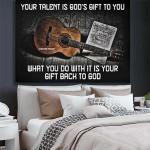 Guitar Canvas Prints Wall Art - Matte Canvas