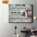 To My Son Football Canvas Prints Wall Art - Matte Canvas