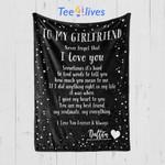 Custom Blankets Personalized Blanket - Perfect gift for Girlfriend - Fleece Blanket
