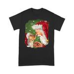 Santa kissing Yorkie T-Shirt - Standard T-shirt (New Custom)