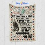 Custom Blanket Personalized Name To My Daughter From Dad Blanket - Quilt Blanket