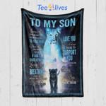 Custom Blanket To My Son From Mom Blanket