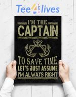 Custom Poster Prints Wall Art Captain Of The Boat
