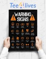 Custom Poster Prints Wall Art Funny Driving Warning Signs 101 Auto Mechanic Gift Driver