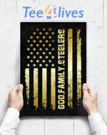 Custom Poster Prints Wall Art God Family Steelers Pro Us Flag Father_S Day Dad Gift