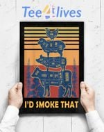 Custom Poster Prints Wall Art I_D Smoke That Beef Pork Chicken Butcher Cut Funny Grilling