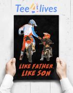Custom Poster Prints Wall Art Moto Boss Braaap Dirt Bike Motocross Off-Roading