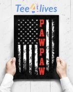 Custom Poster Prints Wall Art Pawpaw Gift America Flag Christmas Gift For Men Father_Day