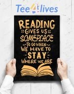 Custom Poster Prints Wall Art Reading Reader Book Lover Literature Library Month Gift