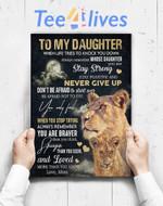 Custom Poster Prints Wall Art Daughter Mom