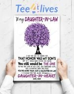 Custom Poster Prints Wall Art Mom To Daughter In Law