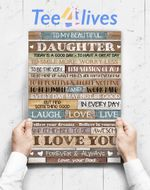 Custom Poster Prints Wall Art To My Beautiful Daughter