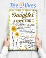 Custom Poster Prints Wall Art To My Daughter Sunflower