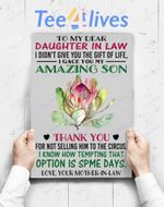 Custom Poster Prints Wall Art To My Dear Daughter In Law From Your Mother