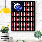 American Flag Bowling Bowler Gifts For Bowling Team Canvas Prints Wall Art - Matte Canvas