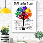 Appreciate All You Do -Best Gift For Mother-In-Law Canvas Prints Wall Art - Matte Canvas