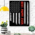 Best Pappy Ever American Flag Father'S Day Gift Canvas Prints Wall Art - Matte Canvas