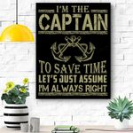 Captain Of The Boat Canvas Prints Wall Art - Matte Canvas