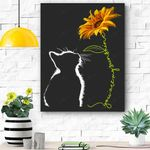 Cat You Are My Sunshine Cats Gift Canvas Prints Wall Art - Matte Canvas