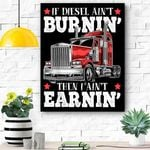 Funny Diesel Trucker Big Rig Semi Trailer Truck Driver Gift Canvas Prints Wall Art - Matte Canvas