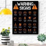 Funny Driving Warning Signs 101 Auto Mechanic Gift Driver Canvas Prints Wall Art - Matte Canvas