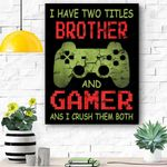 Funny Gamer Vintage Video Games Gift For Boys Brother Son Canvas Prints Wall Art - Matte Canvas