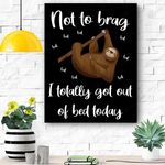 Funny Sloth Gifts For Lazy Men Women Or Kids Who Love Bed Canvas Prints Wall Art - Matte Canvas