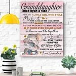 I Love You - Great Gift For Granddaughter Canvas Prints Wall Art - Matte Canvas
