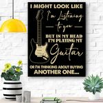 I Might Look Like I'm Listening To You Music Guitar Canvas Prints Wall Art - Matte Canvas
