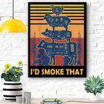 I'd Smoke That Beef Pork Chicken Butcher Cut Funny Grilling Canvas Prints Wall Art - Matte Canvas
